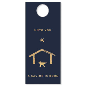 Simple Gold Manger DoorHangers