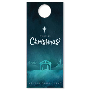 Teal This Is Christmas DoorHangers