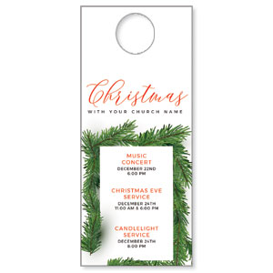 Christmas Boughs DoorHangers
