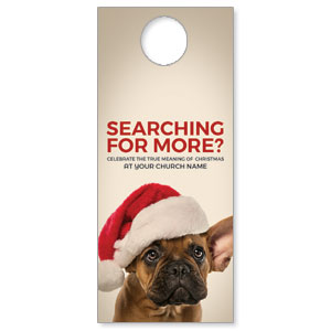 Santa Hat Puppy DoorHangers