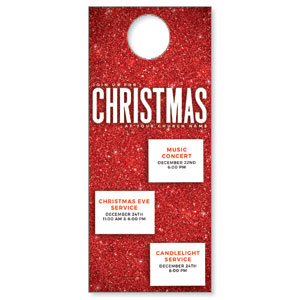 Red Glitter Christmas DoorHangers