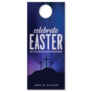 Aurora Lights Celebrate Easter DoorHangers