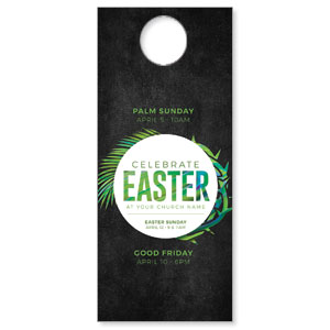 Easter Palm Crown DoorHangers