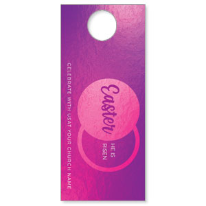 Icon Pink Tomb DoorHangers