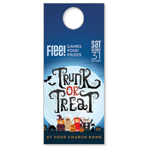 Trunk or Treat Kids DoorHangers