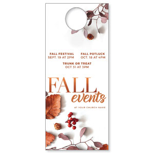 Fall Events Nature DoorHangers