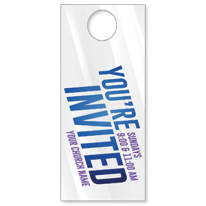 Invited Blue Streaks DoorHangers