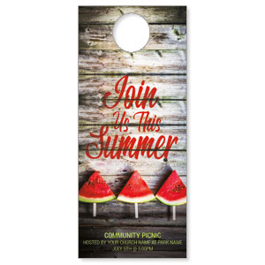 Summer Watermelon Events DoorHangers