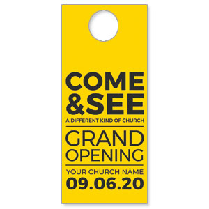 Yellow Grand Opening DoorHangers