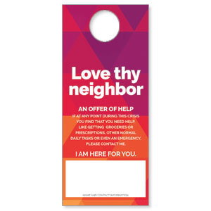 Geometric Bold Love Thy Neighbor DoorHangers