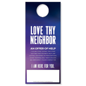 Aurora Lights Love Thy Neighbor DoorHangers