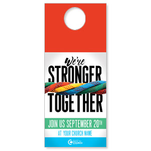 BTCS Stronger Together DoorHangers