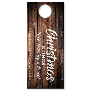 Dimensional Wood Christmas DoorHangers