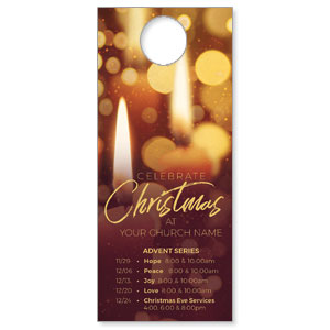 Celebrate Christmas Candles DoorHangers
