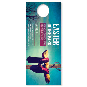 Easter In Park Blue DoorHangers