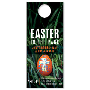 Easter In Park Grass DoorHangers