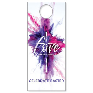 Love Never Fails DoorHangers
