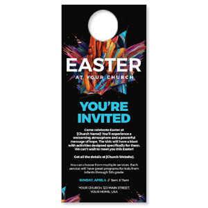 CMU Easter Invite 2021 DoorHangers