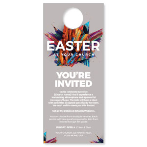 CMU Easter Invite 2021 Grey DoorHangers