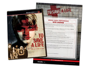 To Save A Life Movie Event License Stnd DVD License