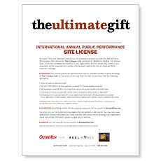The Ultimate Gift Movie License Package