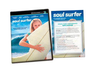 Soul Surfer Movie License Standard DVD License