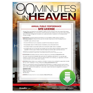 90 Minutes in Heaven Movie License Packages