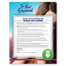 I'm Not Ashamed Movie License Package