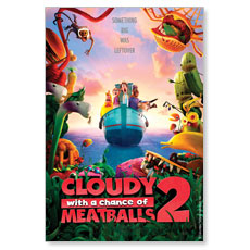 Cloudy with a Chance of Meatballs 2 Movie License Package