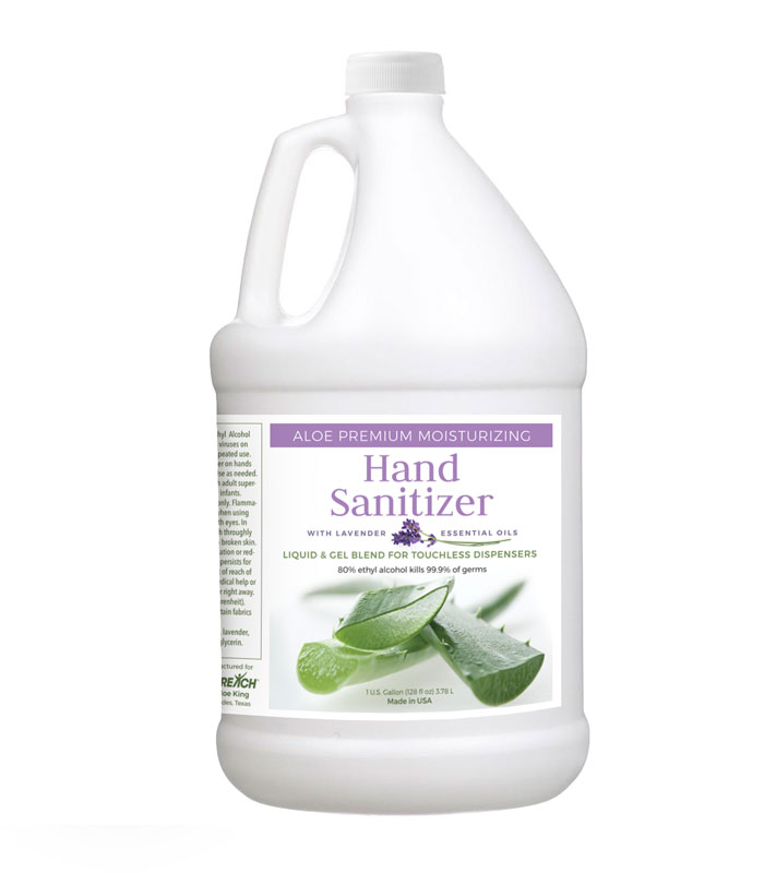 Safety Products, Safety, Liquid & Gel Blend Aloe Sanitizer for Touchless Dispensers in 1 Gallon Container (Single)