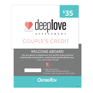 Deep Love Assessment Code Card SpecialtyItems