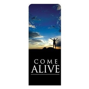 "Come Alive 2'7"" x 6'7"" Sleeve Banners"