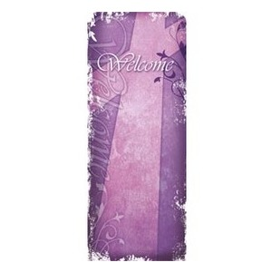 "Vintage Purple 2'7"" x 6'7"" Sleeve Banners"