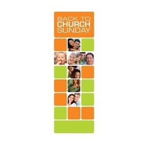"Back to Church Blocks 2'7"" x 6'7"" Sleeve Banners"