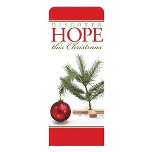 "Hope Christmas Tree 2'7"" x 6'7"" Sleeve Banners"