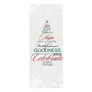 "Christmas Word Tree 2'7"" x 6'7"" Sleeve Banners"