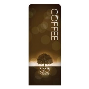 "Deeper Roots Coffee 2'7"" x 6'7"" Sleeve Banners"