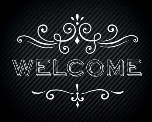 chalk welcome banner - church banners