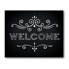 Chalk Welcome Banner