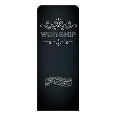 Chalk Worship Banner