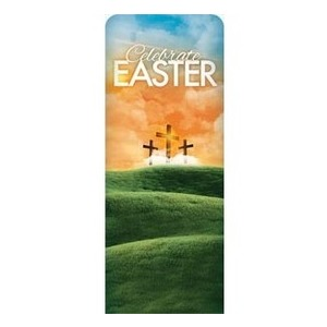 "Easter Landscape 2'7"" x 6'7"" Sleeve Banners"