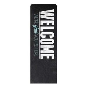 Slate Welcome 2 x 6 Sleeve Banner