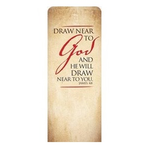 "Red Script James 4:8 2'7"" x 6'7"" Sleeve Banners"
