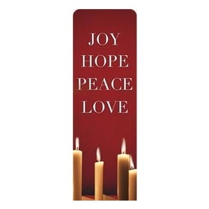 Advent Red 2 x 6 Sleeve Banner