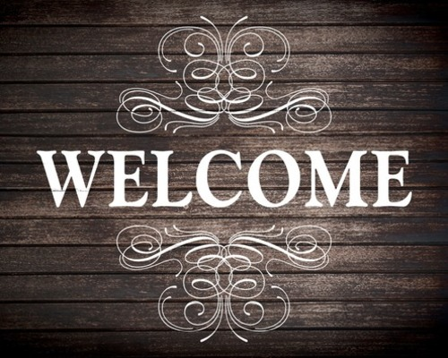 Rustic Charm Welcome Banner Church Banners Outreach