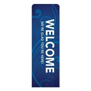 Flourish Welcome  2 x 6 Sleeve Banner