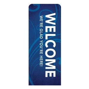 "Flourish Welcome   2'7"" x 6'7"" Sleeve Banners"