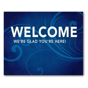 Flourish Welcome Jumbo Banners