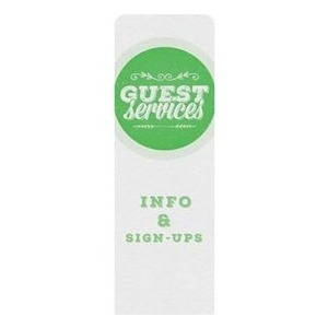 Guest Circles Services Green Banners