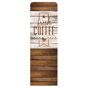 Barn Wood Coffee 2 x 6 Sleeve Banner